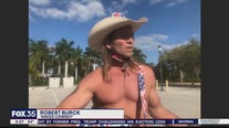 Naked Cowboy talks to FOX 35 about his arrest