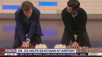 Dr. Oz helps save man who collapsed at airport