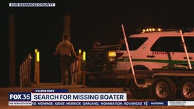 Search for missing boater on St. Johns River