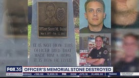 Gainesville Police officers 'devastated' after memorial stone for fallen officer destroyed