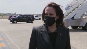 Vice President Kamala Harris arrives in Florida for vaccine site visit