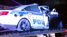 Good Samaritans pull officer from crashed, burning patrol car after chase