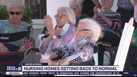 Nursing homes getting back to normal after vaccinations