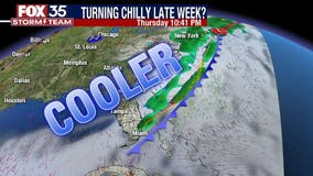 Strong cold front expected to move into Central Florida this week