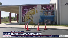Roberto Clemente mural comes alive at middle school