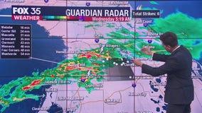 Live tracking: Heavy rain, lightning roll through Central Florida