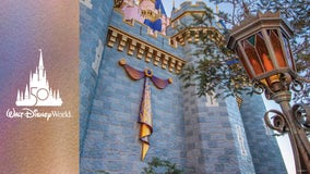 Cinderella's Castle receives first piece of 50th anniversary decor at Disney World