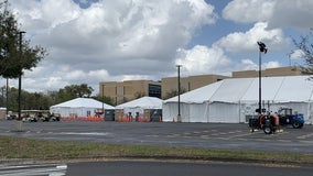 Officials set up federal vaccination site in Orlando, gear up for Wednesday's opening