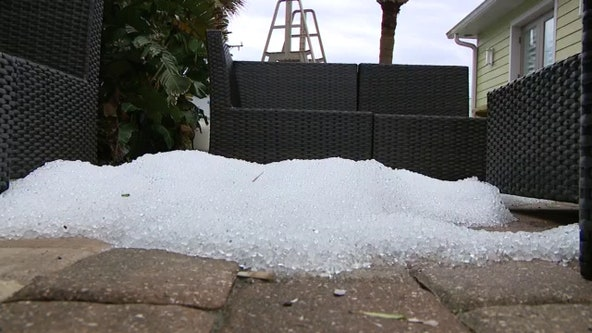Residents react after surprising hailstorm in Daytona Beach Shores
