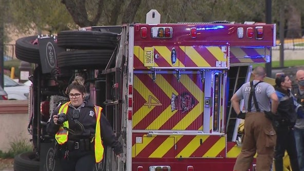 Overturned fire truck involved in deadly crash in Daytona Beach