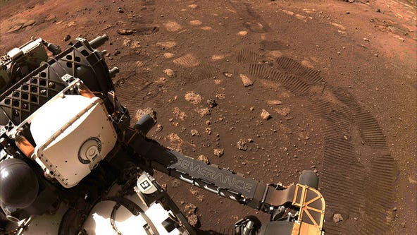 NASA Mars rover takes first drive on the Red Planet