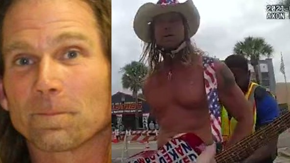 Body camera video shows 'Naked Cowboy' being arrested in Daytona Beach