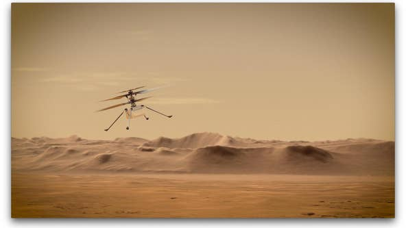 NASA targets Monday for 1st flight of Ingenuity helicopter on Mars