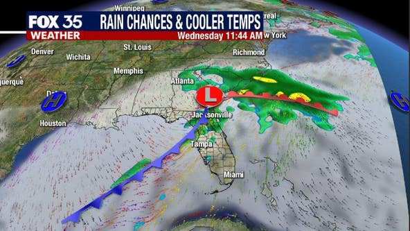 After record highs this weekend, Florida will cool down and get wet