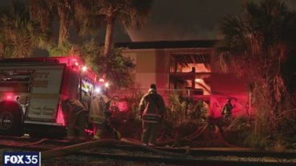 Massive fire tears through abandoned hotel near Florida Mall