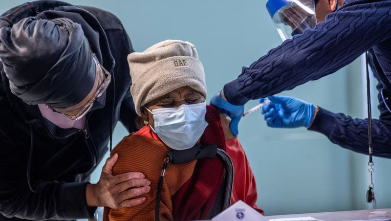 Immigrants Receive COVID-19 Vaccinations At Community Center Event