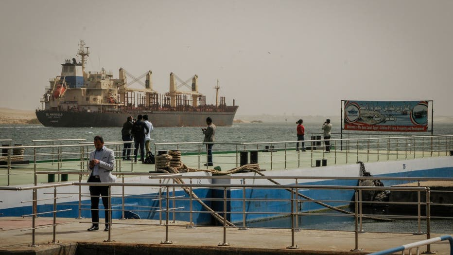 Suez Canal traffic blocked by massive ship in Egypt