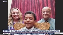 9-year-old pianist puts on concerts for neighborhood