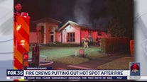 Firefighters battle flames at Lake Mary home overnight