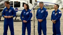 SpaceX Crew-2 astronauts arrive at the Kennedy Space Center