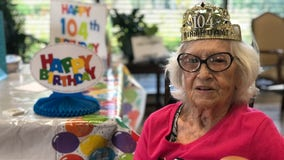 Florida nursing home resident celebrates 104th birthday with family