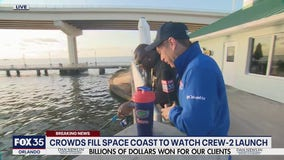 Crowds fill Space Coast to watch Crew-2 launch