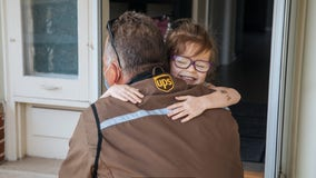 UPS driver makes special stop to visit 6-year-old Wisconsin girl