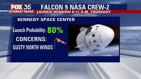 SpaceX Crew-2 launch forecast
