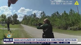 Man accused of chasing ex-girlfriend with gun