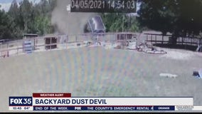 Backyard dust devil caught on camera in Apopka