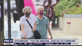 Governor DeSantis questioning mask use for those who are vaccinated