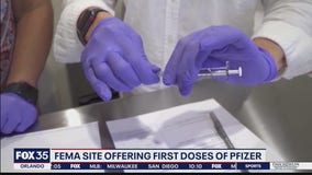 FEMA Orlando site offering first doses of Pfizer