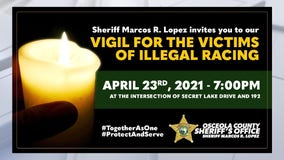 Osceola County Sheriff's Office plans vigil for victims of illegal racing