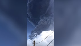 St. Vincent's La Soufriere volcano continues to erupt, tainting water supply and forcing evacuations