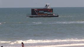 Floating display causes stir as it gets go-ahead to cruise along Volusia coast