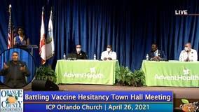 Orange County officials combat vaccine hesitancy with townhall meeting