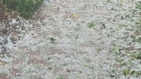 Hail surprises residents in Central Florida