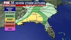 Strong storms possible across Central Florida this weekend