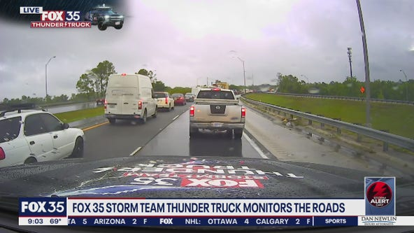 FOX 35 Storm Team Thunder Truck is monitoring the roads