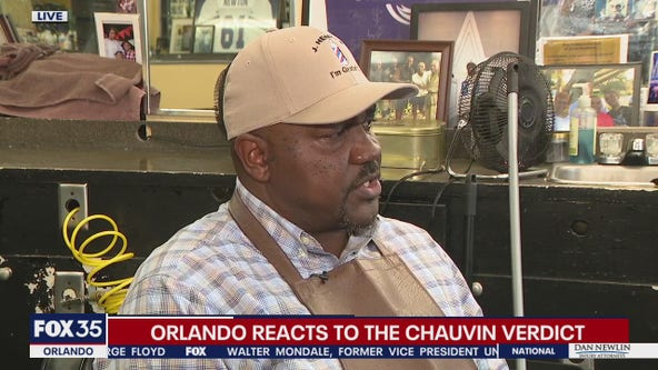 Chauvin verdict reaction from J Henry's Barber Shop