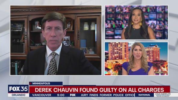Attorney Mark O'Mara reacts to Chauvin verdict