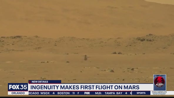 Ingenuity makes first flight on Mars
