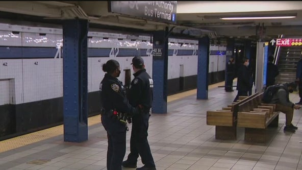 Man with rifle arrested in Times Square subway station