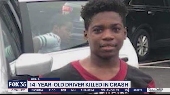 Boy, 14, killed in crash