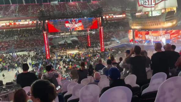 Wrestlemania fans told to seek shelter during severe weather in Tampa
