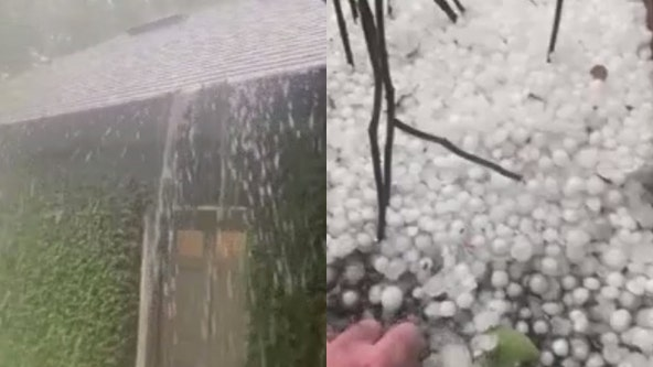 Strong storms brought heavy rain, hail to Central Florida on Sunday