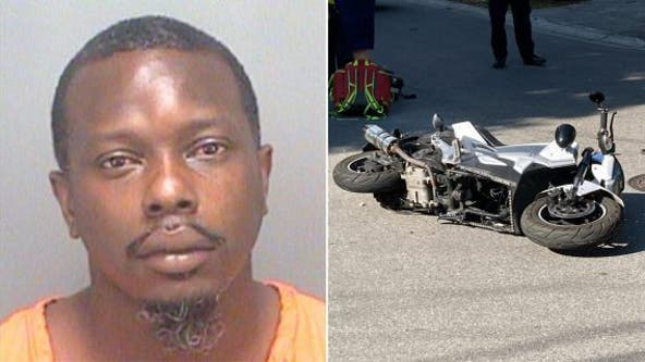 Baby hurt in motorcycle crash in while riding on stepdad's lap, police say