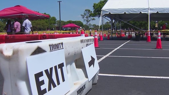 Orlando FEMA vaccination site reopens again after stormy weather