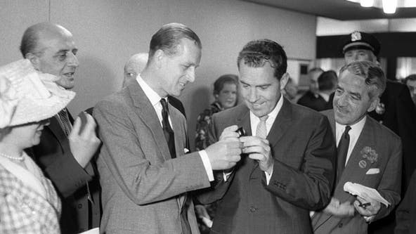 Prince Philip once apologized to President Nixon for making a 'lame' toast