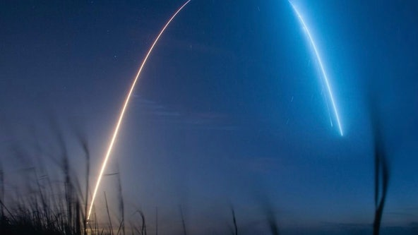 PHOTOS: SpaceX completes pre-dawn Crew-2 launch